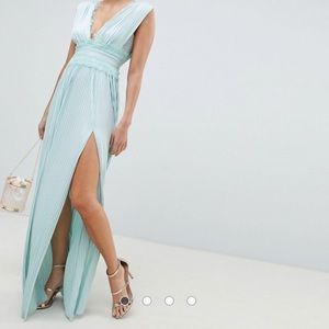 ASOS baby blue maxi dress